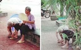 Giới trẻ lại 'liêu xiêu' trước hình ảnh giản dị cụ ông ân cần chăm sóc cụ bà