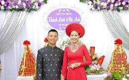 Chí Anh và vợ kém 20 tuổi rạng rỡ trong lễ ăn hỏi