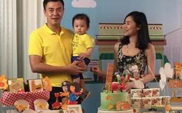Vợ chồng MC Tuấn Tú hạnh phúc mừng sinh nhật 1 tuổi của con trai đầu lòng