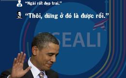 Bị giới trẻ VN hỏi khó, Tổng thống Obama đã có màn đối đáp khiến ai cũng phải bật cười