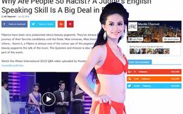 Hoa hậu Việt nói dở tiếng Anh: Người nhà