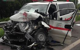 Xe cứu thương lao vào xe bồn trên cao tốc Long Thành – Dầu Giây, 4 người thương vong