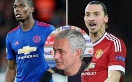 Mourinho khẳng định vị trí của Pogba và Ibrahimovic là 'bất khả xâm phạm'