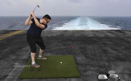 """Cuộc sống """"trưa ăn thịt nướng, chiều đánh golf"""" của thủy thủ tàu sân bay Mỹ"""