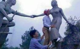"""Cán bộ huyện """"sàm sỡ"""" tượng nàng Biang bị phê bình nghiêm khắc"""