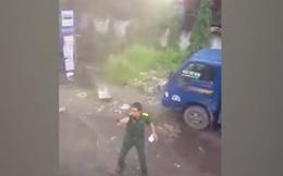 """Đại tá Minh nói về clip gây xôn xao dư luận """"người mặc áo sỹ quan rút súng dọa bắn dân"""""""