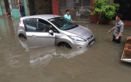 Cảnh báo ngập lụt ở nội thành Hà Nội