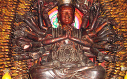 Tìm thấy tượng Phật Bà nghìn tay, nghìn mắt cách chùa Mễ Sở 3km
