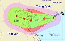 Bão giật cấp 14 sẽ đổ bộ vào Quảng Ninh đến Nghệ An