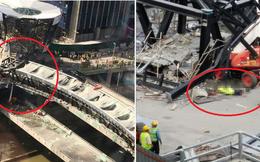 Cây cầu đang làm dở bất ngờ đổ sập không rõ lý do khiến dư luận bàng hoàng
