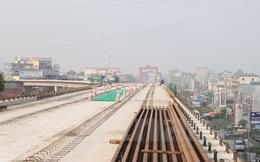 Hợp long phiến dầm cuối cùng dự án đường sắt Cát Linh-Hà Đông
