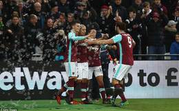 Clip bản quyền West Ham 3-0 Crystal Palace