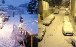 Những hình ảnh về đợt tuyết rơi dày nhất trong vòng 35 năm qua tại Tây Ban Nha