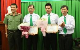 Công an TP HCM khen thưởng hai tài xế taxi dũng cảm bắt cướp