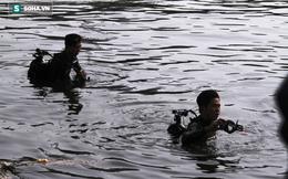 Hàng chục người nhái lặn tìm thi thể cô gái đuối nước dưới kênh