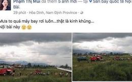 Lãnh đạo Cảng hàng không Nội Bài bác tin máy bay rơi