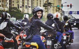 Cô gái xinh đẹp nổi bật giữa 160 mô tô, diễu hành tưởng nhớ Trần Lập