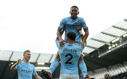 Thắng 7-2, Man City vượt mặt Man United; Chelsea thua khó tin đội cuối bảng