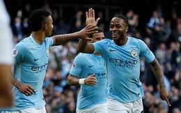 Vòng 8 Premier League: Man City 7-2 Stoke