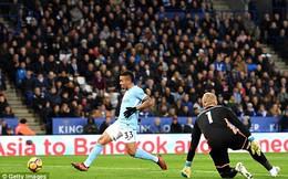 Vòng 12 Premier League: Leicester 0-2 Man City