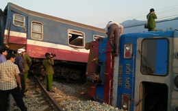 Hiện trường vụ tàu hỏa đâm ô tô tải, lật khỏi đường ray khiến 3 người thiệt mạng ở Huế