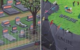 Những bức biếm họa lột trần mặt tối của xã hội hiện đại nơi chúng ta đang sống