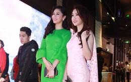 """Hoa hậu Mỹ Linh và Á hậu Thanh Tú đẹp nổi bật trong buổi ra mắt phim """"Kong: Đảo đầu lâu"""""""