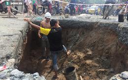 Hố tử thần rộng gần 4m xuất hiện trên đường phố Sài Gòn sau cơn mưa lớn