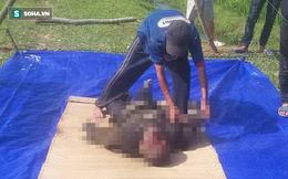 Thi thể người đàn ông nằm ngửa dưới mương nước