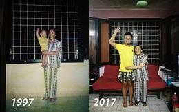 Khoảnh khắc bà - cháu và bộ quần áo sau 20 năm khiến bao người xúc động