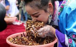 24h qua ảnh: Cô gái tham gia cuộc thi ăn côn trùng ở Trung Quốc