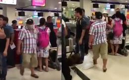 [Video nóng] Diễn viên nổi tiếng showbiz Việt cãi cọ lớn tiếng tại sân bay