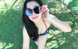 Nhan sắc trẻ đẹp của vợ ca sĩ Trọng Tấn trong trang phục bikini