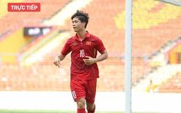 """TRỰC TIẾP U22 Việt Nam 4-1 U22 Campuchia: Công Phượng sút phạt cực hiểm, thủ môn đội bạn """"đứng hình"""""""