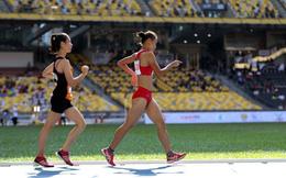 """CLIP: VĐV chủ nhà Malaysia """"chạy như bay"""" ở môn đi bộ, giật HCV khỏi tay Việt Nam"""