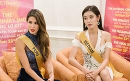 [Video] Huyền My nói tiếng anh trong phần thi phỏng vấn, chia sẻ chuyện đặc biệt với Hoa hậu Haiti