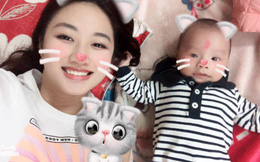 Hoa hậu Thu Ngân bất ngờ khoe con trai 2 tháng tuổi với chồng đại gia
