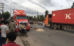 Bình Dương: Va chạm với xe container đang ôm cua, con gái tử vong tại chỗ, cha nguy kịch