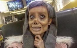 """""""Bóc phốt"""" những bức ảnh của cô gái phẫu thuật 50 lần để giống Angelina Jolie"""