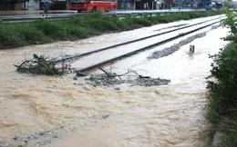 Đường sắt Bắc Nam qua Nghệ An ngập sâu, nhiều tàu phải dừng chờ