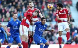 Clip bản quyền Premier League: Middlesbrough 0-0 Leicester City