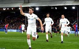 Clip bản quyền Premier League: Crystal Palace 1-2 Swansea