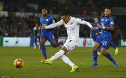 Clip bản quyền Premier League: Swansea 2-0 Leicester