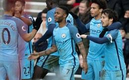 Premier League vòng 27: Sunderland 0-2 Man City