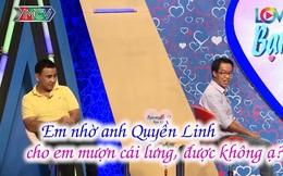 """Bạn muốn hẹn hò: Chàng trai """"mượn lưng"""" MC Quyền Linh để tỏ tình với bạn gái"""