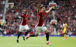 Vòng 38 Premier League: Man United 2-0 Crystal Palace