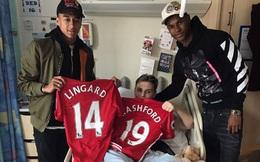 Chưa vội đi nghỉ Hè, Lingard và Rashford vào bệnh viện trò chuyện với nạn nhân khủng bố
