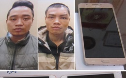 Bắt 2 đối tượng bịt biển số xe để cướp giật tài sản ở Hà Nội
