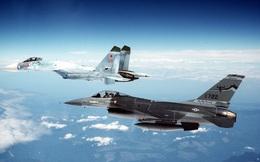 Tiêm kích Su-27 Nga đối đầu F-16 của Mỹ trên Vùng 51