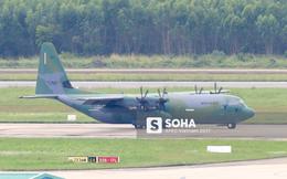 Vận tải cơ C-130J Super Hercules chở đoàn tiền trạm Hàn Quốc dự APEC đáp xuống Đà Nẵng